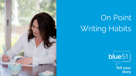 writing habits for business