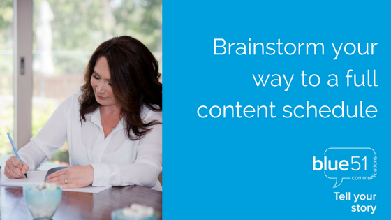 brainstorm your way to a full content schedule