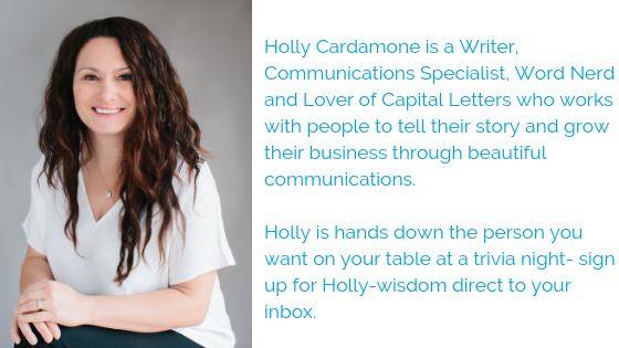 Holly Cardamone bio writer communications specialist