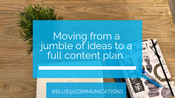 How to move from idea to content plan