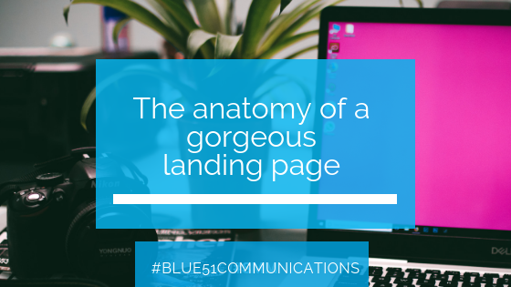 The anatomy of a gorgeous landing page